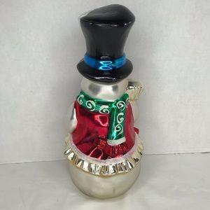 """Kurt Adler Holiday - Vintage Mercury Glass Kurt Adler 12"""" snowman"""